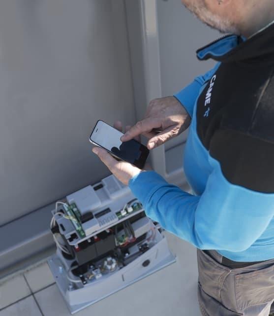 Привод BKV25AGE PLUS можно настроить с использованием смартфона